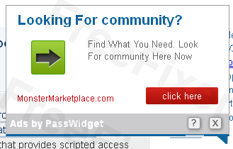 Ads by Passwidget as a mouse-over effect of a link.