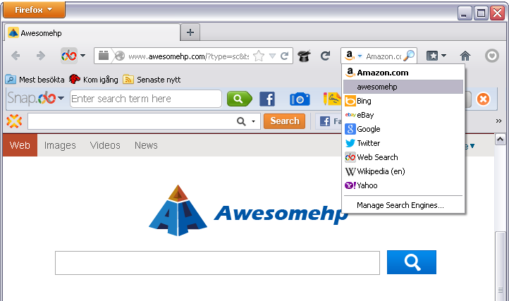 awesomehp in Firefox