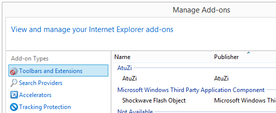 AtuZi add-on Internet Explorer