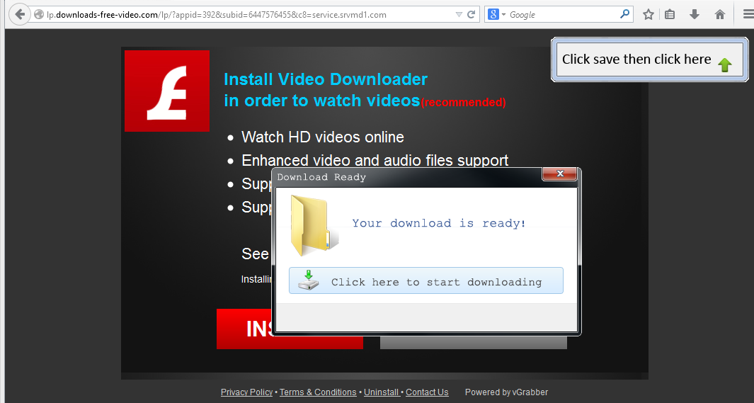 "InstallVibes ""Download Ready"" using user interface that looks like the Windows 7 user interface style."