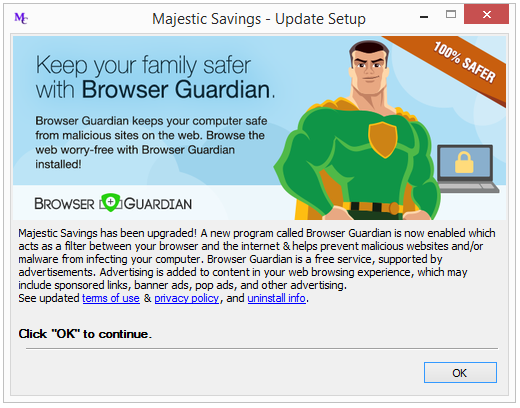 Majestic Savings - Browser Guardian