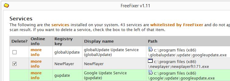 NewPlayer.exe Service