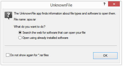 UnknownFile Dialog
