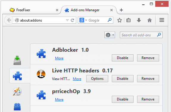 how to remove adult blocker add in