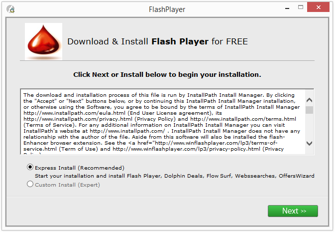 Wilmaonline LTD. - installer for Flash Player, Dolphin Deals, Flow Surf, Webssearches, OffersWizard