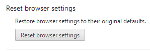chrome reset browser settings button