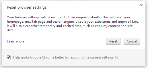 chrome reset confirm