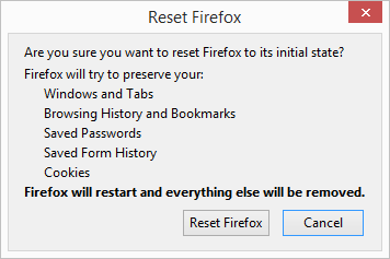 firefox reset button confirm