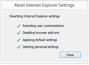 ie reset progress