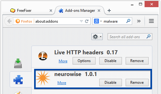 neurowise firefox add-on
