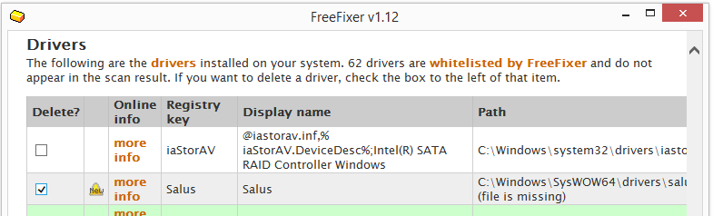 salus.sys driver