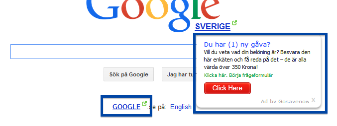 Ad by Gosavenow on the Google search engine