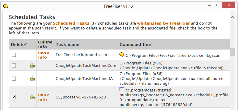 GS_Booster.exe schedulded task