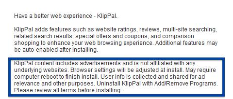 KlipPal installer disclosure