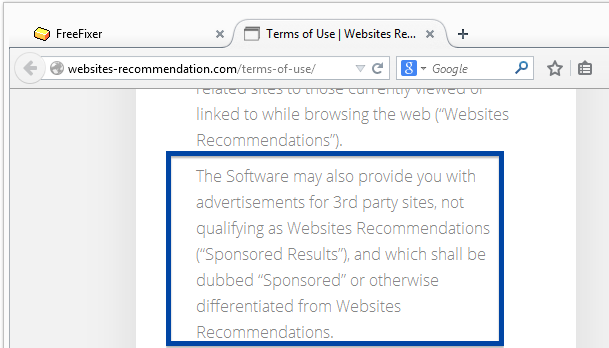 Website Counselor Adware - The EULA