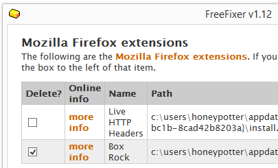 Box Rock removal firefox