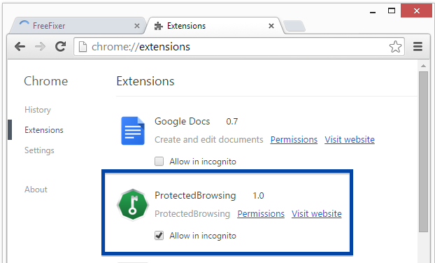 ProtectedBrowsing 1.0 in Chrome