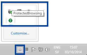 ProtectedBrowsing in the System Tray