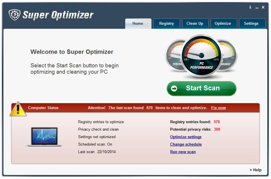Super Optimizer User Interface