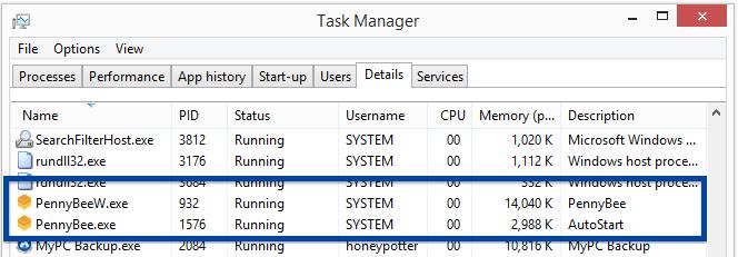 pennybee.exe pennybeew.exe Task Manager
