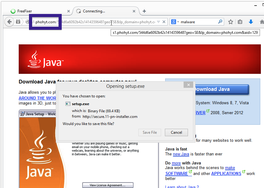 phohyt.com fake java site