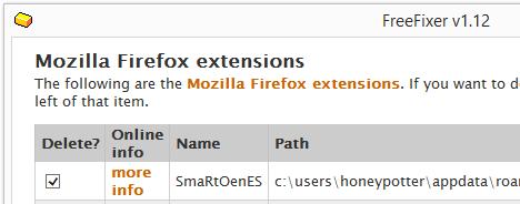 smartones firefox remove