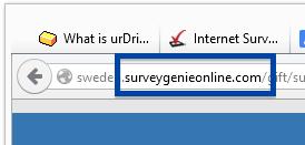 surveygenieonline.com pop-up