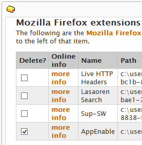 AppEnable firefox remove