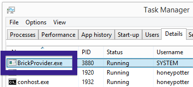 BrickProvider.exe task manager
