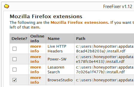 How to remove BrowseStudio from firefox