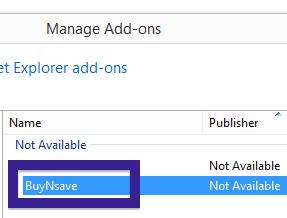 BuyNSave internet Explorer
