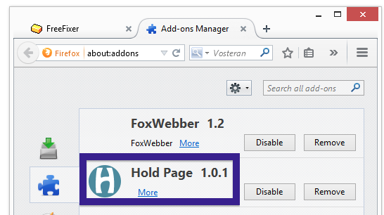 Hold Page 1.0.1 firefox