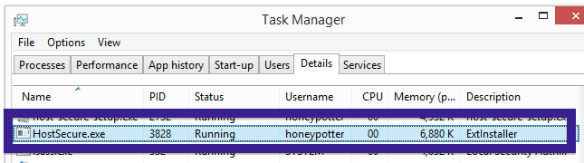 HostSecure.exe task manager