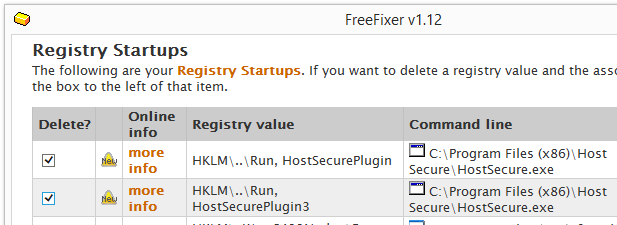HostSecurePlugin startup remove