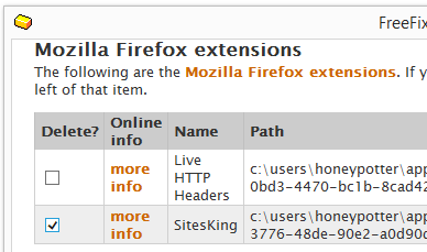 SitesKing Firefox Extension Remove