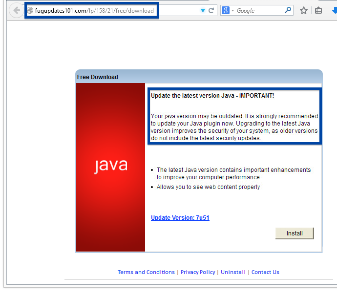 fake java update