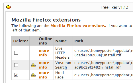 remove Hold Page firefox