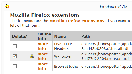 W-Foxxer remove freefixer
