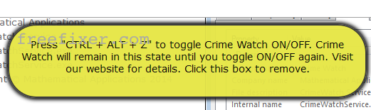 Crime Watch toggle