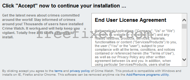 CrimeWatch installer