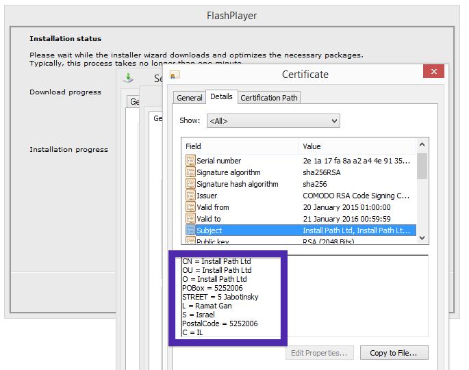 Install Path Ltd certificate