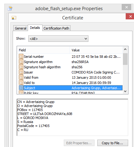 Advertaizing Grupp certificate