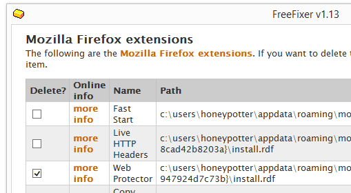 Web Protector remove firefox
