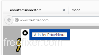 Ads by PriceMinus on web site
