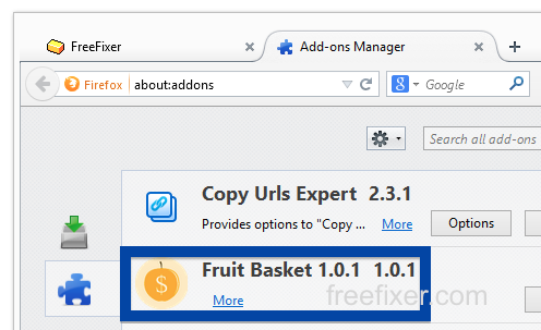 Fruit Basket firefox add-on