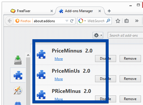 PriceMinus 2.0 Firefox add-on