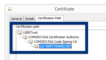 SOFT TRADE LTD LLC cert chain
