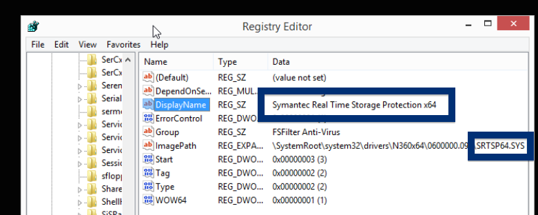 srtsp64.sys symantec protection driver