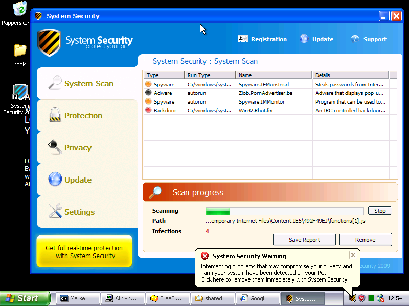System Security Rogue Anti-Spyware Still Going Strong
